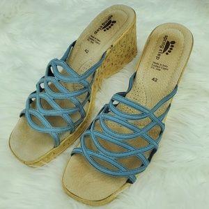 Spring Step Lattice Wedge sandal shoes 42 US 9